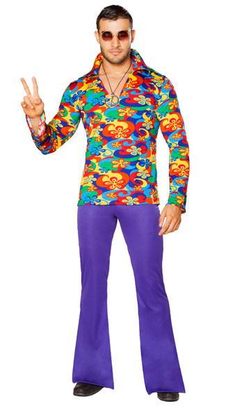 sc 1 st  Yandy & Menu0027s Make Love Not War Costume Menu0027s Hippie Costume Menu0027s 60s Costume