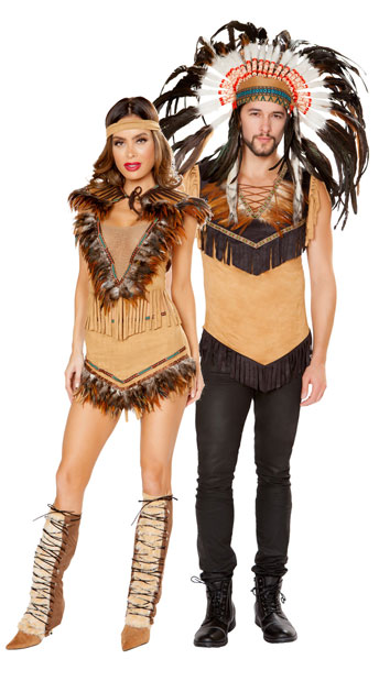 Naughty Natives Couples Costume - as shown