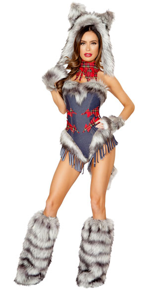 Big Bad Wolf Costume - Blue/Grey