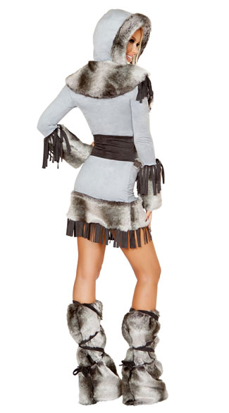 Eskimo Cutie Costume - Grey/Black
