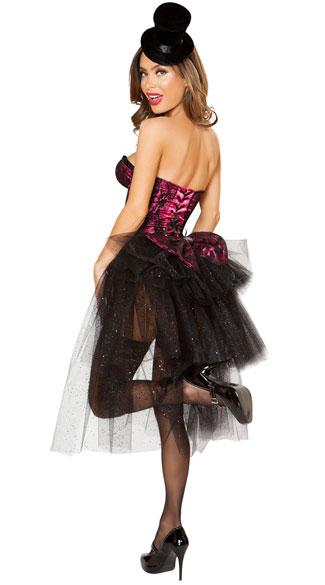 Show Stopper Burlesque Girl Costume - Pink/Black