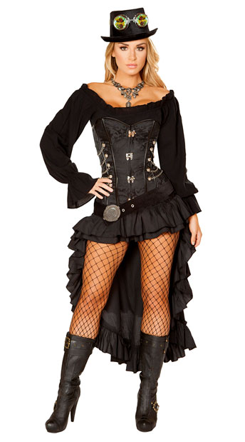 victorian steam maiden costume sexy steampunk costume