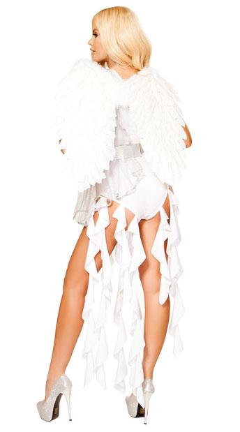 Angel Goddess Costume - White/Silver