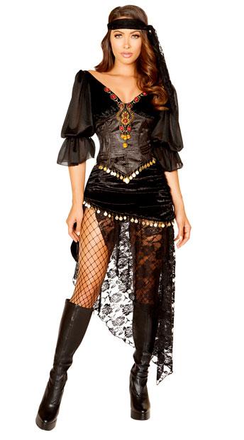 ffae44c3866 Gypsy Maiden Costume - Black ...
