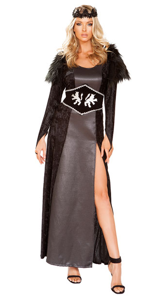 Dark Kingdom Queen Costume - Black/Grey