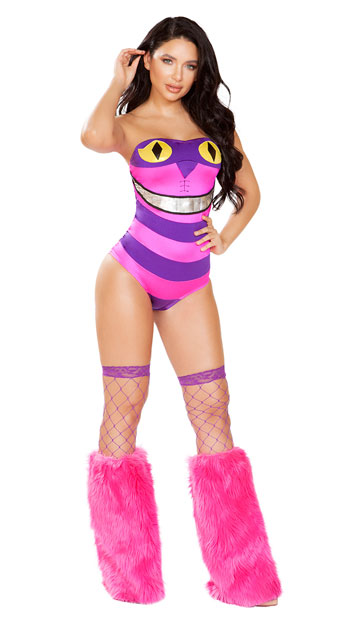 Mischievous Cat Costume - Pink/Purple