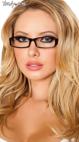 Sexy Secretary Glasses - Black