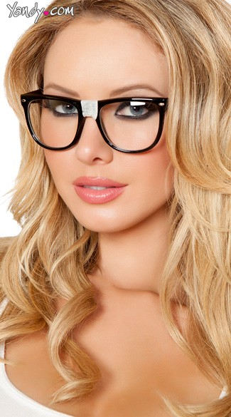 Nerdy Glasses - Black