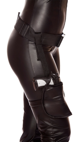 Leg Gun Holster With Connected Belt - As Shown