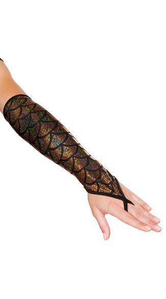 Fingerless Mermaid Gloves - Gold