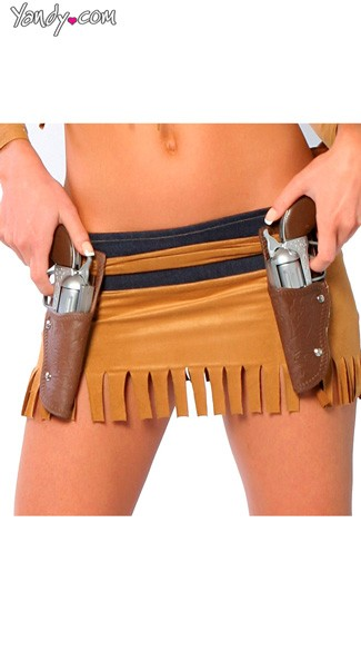Double Gun Holster, Wild West Costume Gun Holster, Western Costume Accessory
