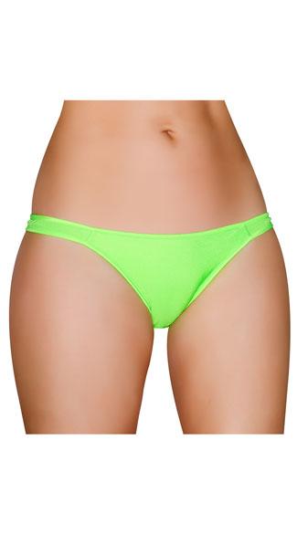 Half Back Panty - Lime Green