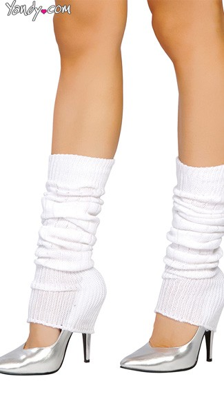 Solid Color Calf High Warmers - White