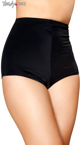 Sexy Black High Waisted Shorts - Black