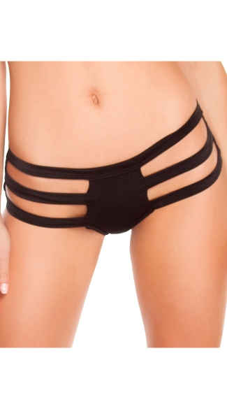Triple Strapped Bottom, Sexy Strappy Cut Out Bottoms, Sexy Triple Strapped Thong Back Bottom