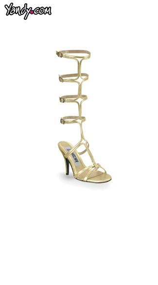 Grecian Fascination Gladiator Sandal - Gold