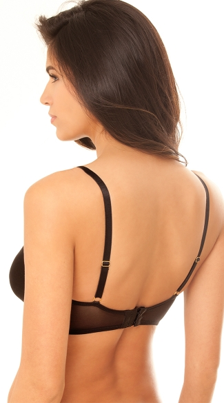 Soft Cup and Deep Plunge Bra - Black