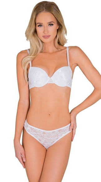 White Summertime Bra and Thong Set - as shown