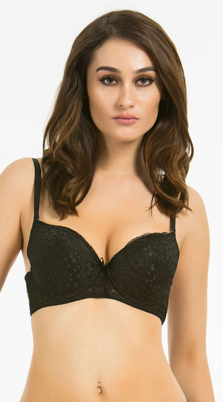 Flower Child Black Bra - Black
