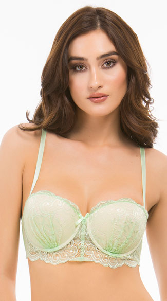 b086c597bc95a Love Fest Green Lace Bra - Green ...