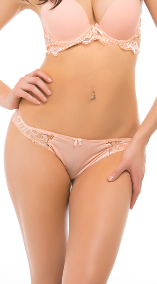 First Kiss Pink Sand Thong, Sand Net and Lace Thong, Pink Lace Thong