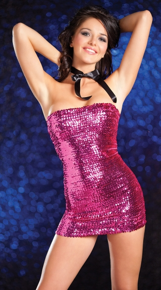 Sequin Tube Dress, Strapless Sequin Dress, Sparkly Mini Dresses