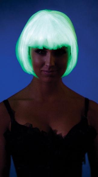 Glow In The Dark Bob Wig Glow In The Dark Hair Green