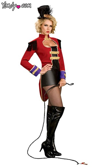 Ring Master Costume - Black/Red