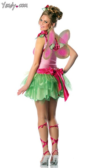 SHARE THE LOVE  sc 1 st  Yandy & Rose Fairy Costume Adult Pink Fairy Costume Womens Fairy Costume