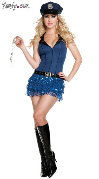 Officer Hottie Costume, Blue Cop Costume, Sexy Police Officer Costume