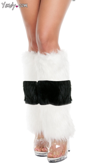 Black and White Striped Leg Warmers, Skunk Leg Warmers, Furry Leg Warmers