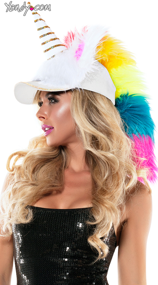 Fuzzy Unicorn Hat, Fuzzy Hat, Unicorn Hat