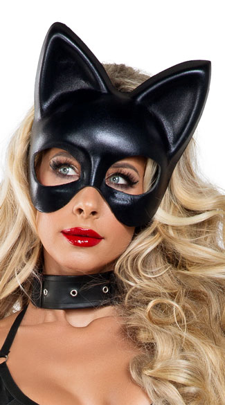 Black Cat Mask - Black