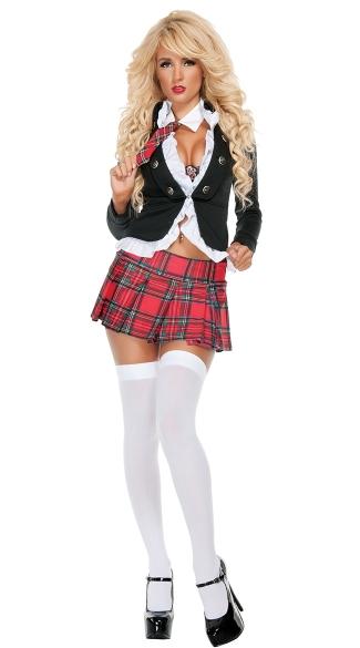 Uptown School Girl Costume, Sexy Shcoolgirl Costume, Sexy -7473