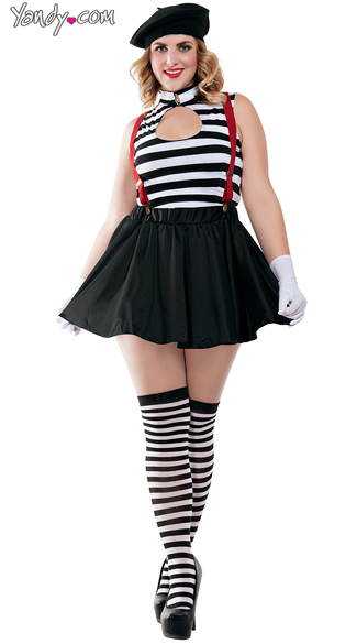 Plus Size Hot Mime Costume  sc 1 st  Yandy : a mime costume  - Germanpascual.Com