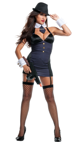 Bang Bang Gangster Costume, Mob Costume, Mobster Costume