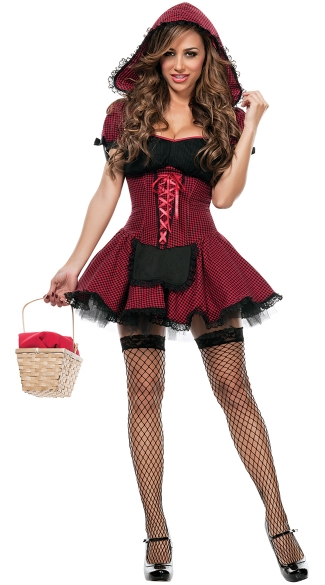 Sexy red riding hood costume picture 9
