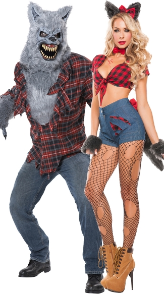 Full Moon Lycan Couples Costume, Sexy Hungry Werewolf Costume, Sexy Wolf Costume, Sexy Animal Costume, Men\'s Gray Lycan Costume, Men\'s Werewolf Costume, Men\'s Wolf Costume