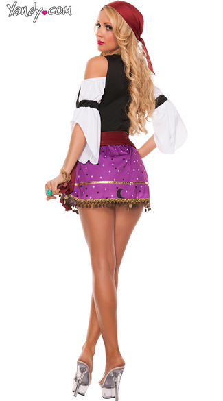 Sexy Fortune Teller Costume - As Shown