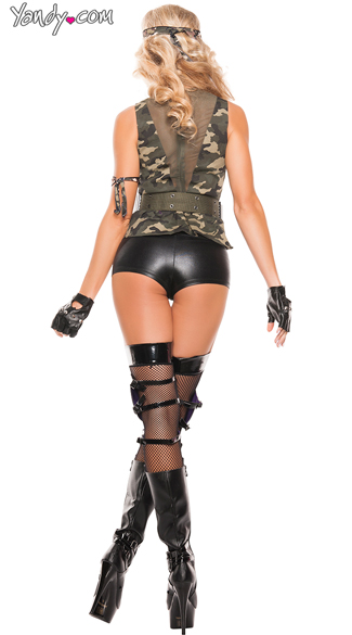 Sexy Special Forces Costume - As Shown