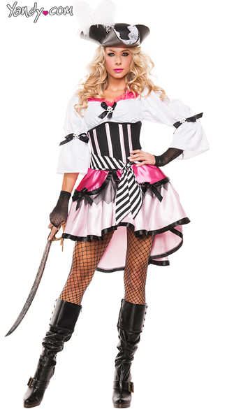 Fantasy Pirate Wench Costume, Sexy Pirate Costume, Pirate Wench Costume