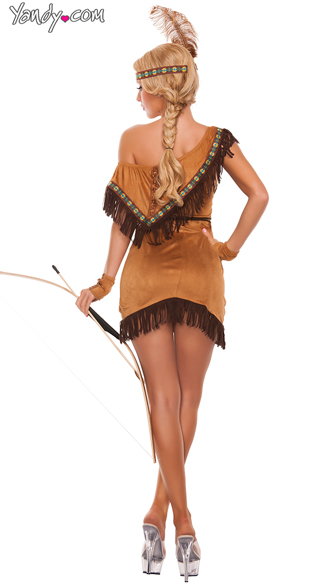 Sexy Dream Catcher Native American Costume - As Shown