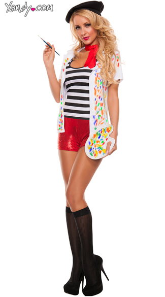 Everybody. Own your sexy.  sc 1 st  Yandy & Picasso Girl Painter Costume Sexy Historical Artist costume Flirty ...