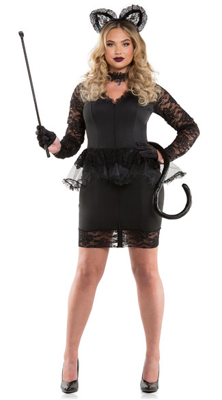 Sexy kitty costume plus size