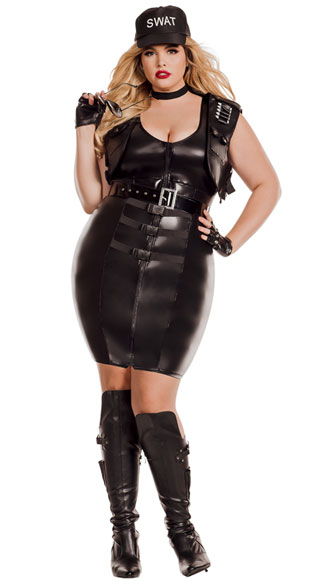 Womens Latex Dresses Plus Size