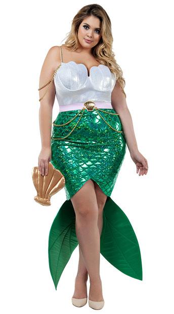 plus size alluring sea siren costume plus size mermaid