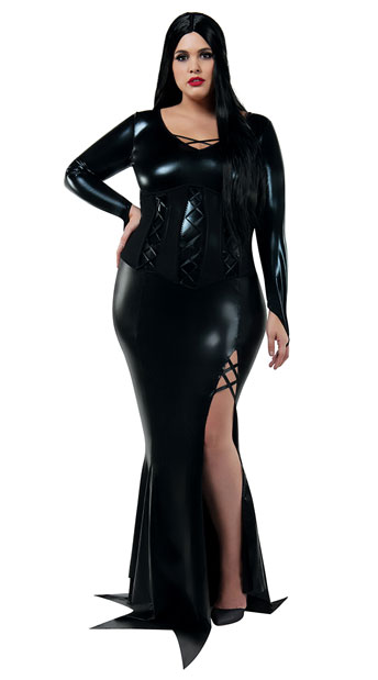 Plus Size Cara Mia Mistress Costume, plus size scary woman costume - Yandy.com