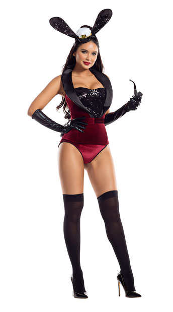 Boss Bunny Costume - Wine/Black