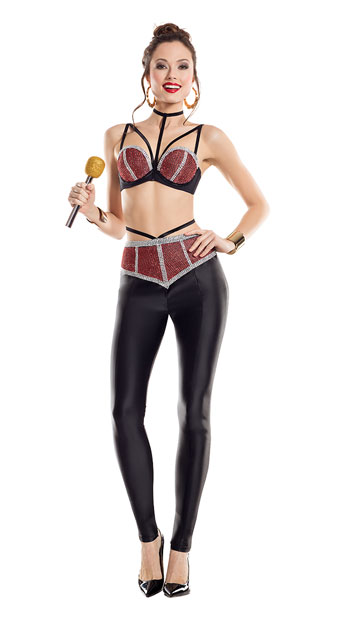 Legendary Latina Costume - Red/Black