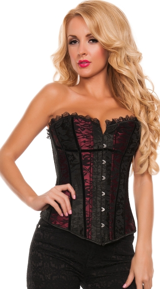 Two Tone Seduction Strapless Corset - Red